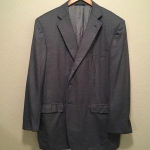 Ermenegildo Zegna Jacket Silk Sport Coat Blue 58